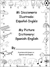 Free Spanish Printables - coloring books and picture dictionaries