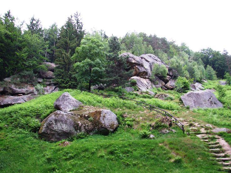 Pulčínské skály (Pulčín rocks) east Moravia - entrance to area