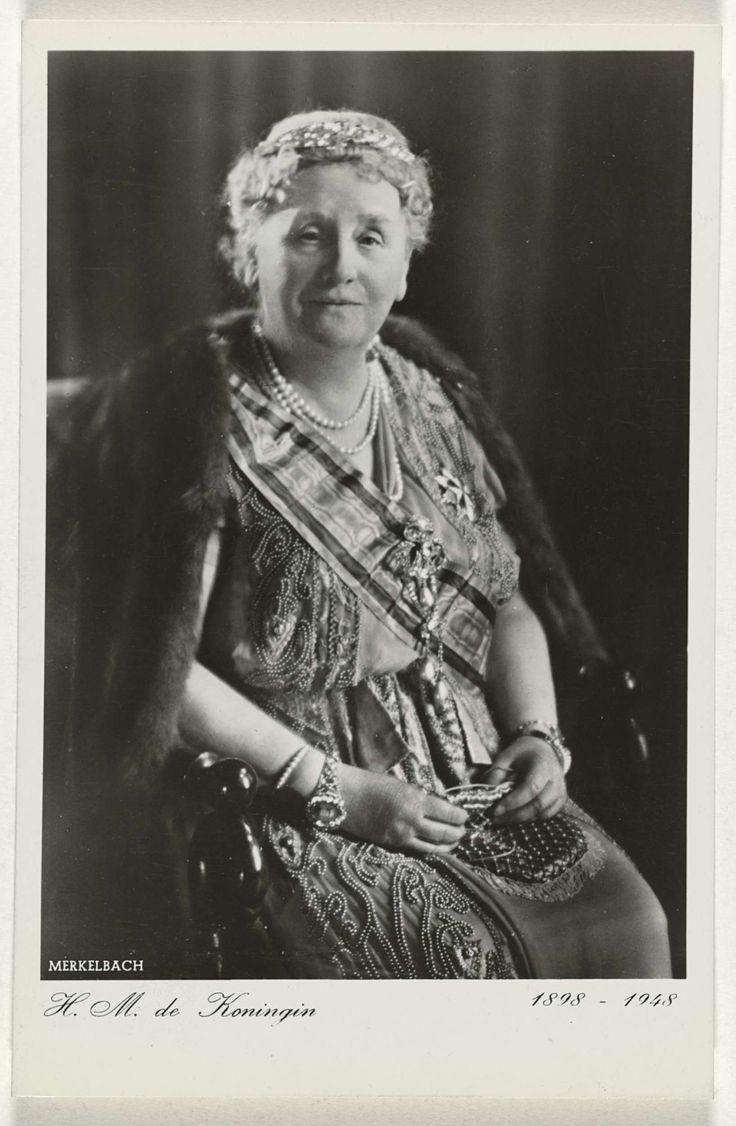 Jacob Merkelbach | H.M. de Koningin ter gelegenheid van haar vijftig jarig regeringsjubileum, Jacob Merkelbach, Zomer & Keuning, 1948 | Koningin Wilhelmina 1898-1948.