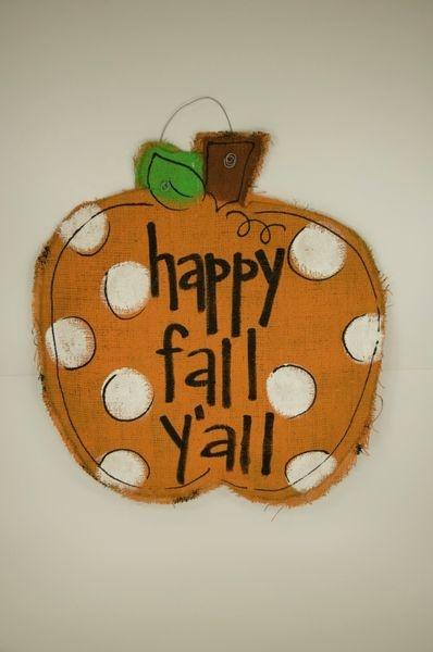 Burlap Pumpkin: Fall Pumpkin, Fall Y All, Crafts Ideas, Fall Ideas, Burlap Crafts, Fall Thanksgiving, Fall Halloween, Burlap Pumpkin, Happy Fall