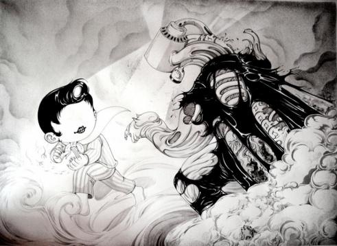 Yan Wei (http://www.kokomoo.com): Wei Http Www Kokomoo Com, East Art, Yan Wei Web4, Cartoon Ideas, Yan Art