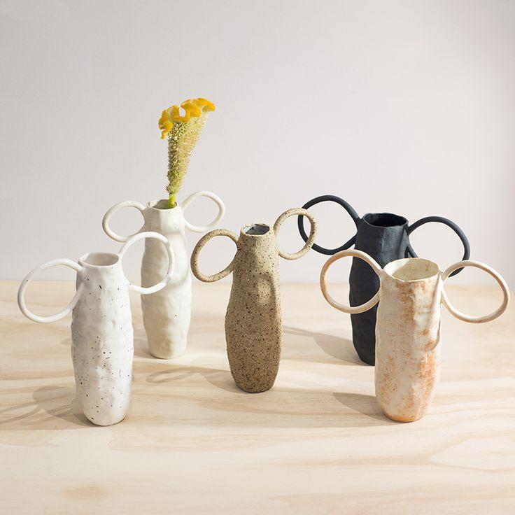 Stoneware vases by Tara Burke.