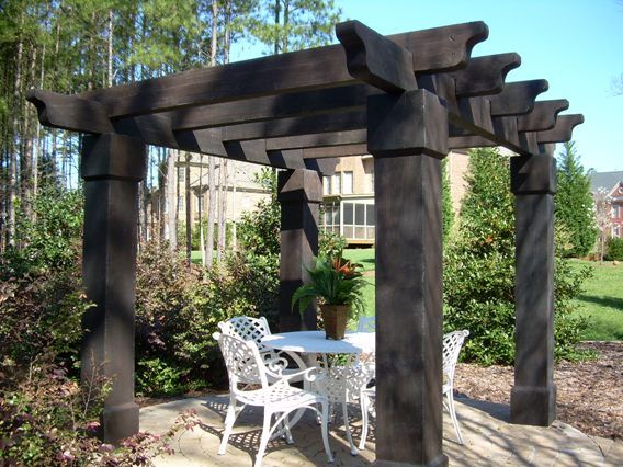 Beefy pergola dark gray pergolas pinterest for Southwest pergola