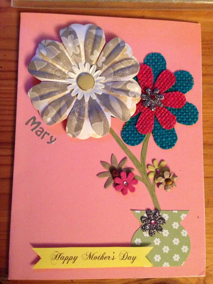 Customised handmade Mother's Day card