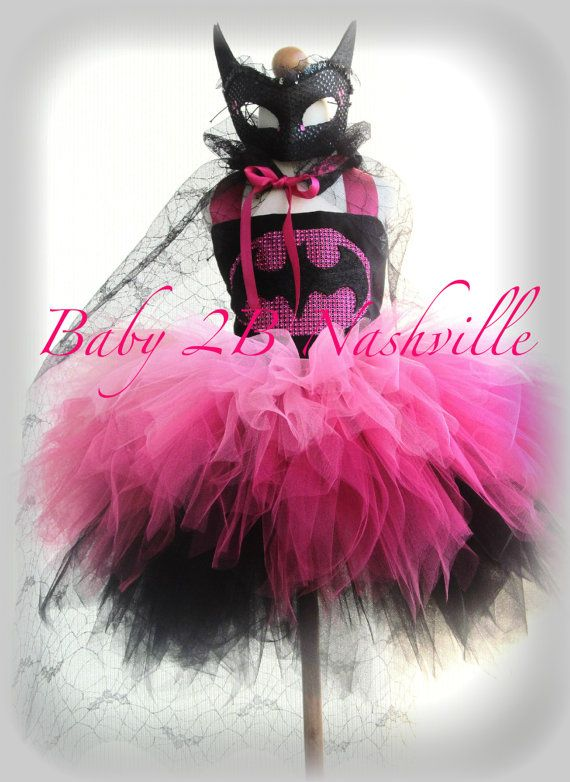 Girls Batman Costume Tutu Set Superhero Costume by Baby2BNashville, $150.00
