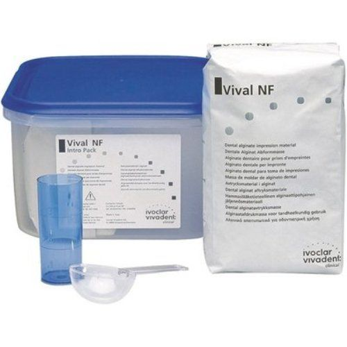 """Ivoclar Vivadent. Vival NF (2x500gr). Vival NF is a dust-free high-quality alginate that sets quickly in 2 min 10""""."""