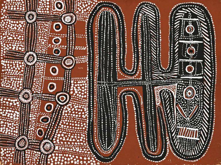 Uta uta tjangala 1920 1990 untitled old men 39 s story for Aboriginal body decoration