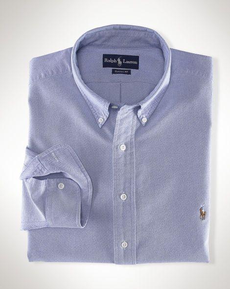 Solid Cotton Oxford Shirt - Big & Tall Standard Fit - RalphLauren.com