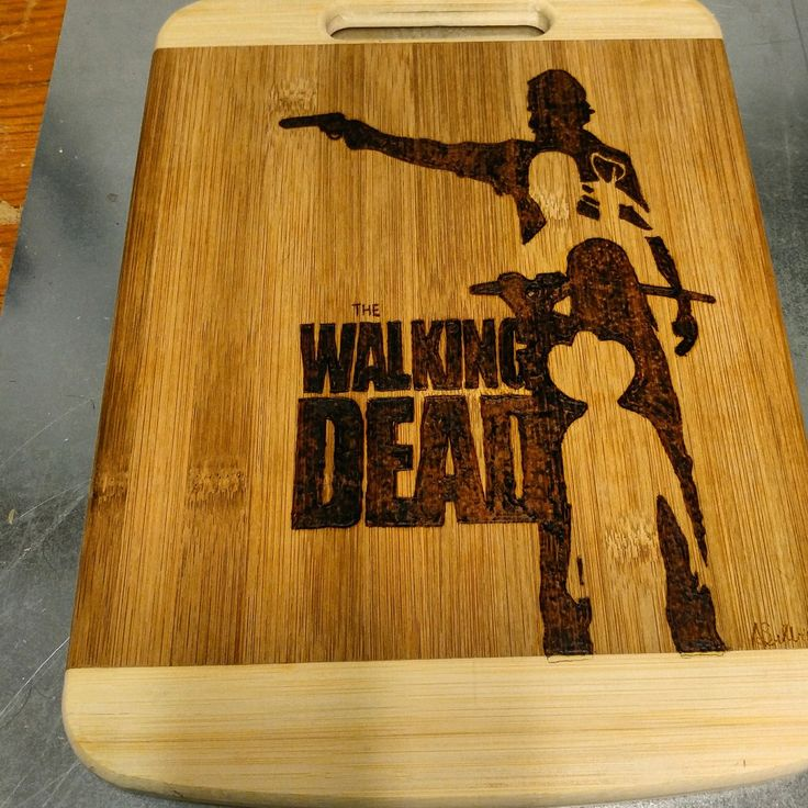 #walkingdead #cuttingboard #pyrography #woodburning #art