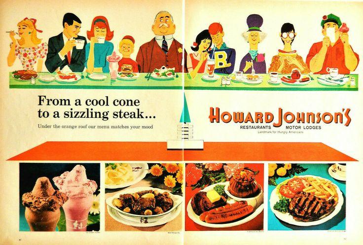 Vtg Howard Johnson's restaurant motor lodge center