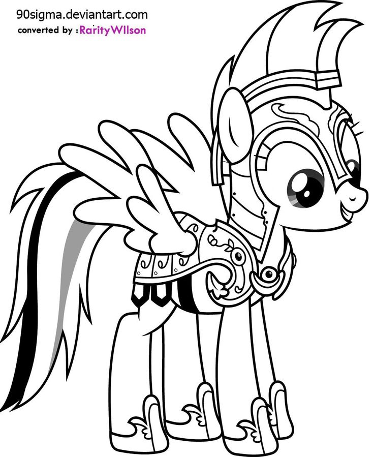 My Little Pony Coloring Pages Google Search : Rainbow dash as commander hurricane my little pony