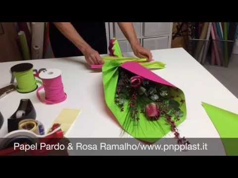 Packaging gift wrapping #wrapflowers - YouTube