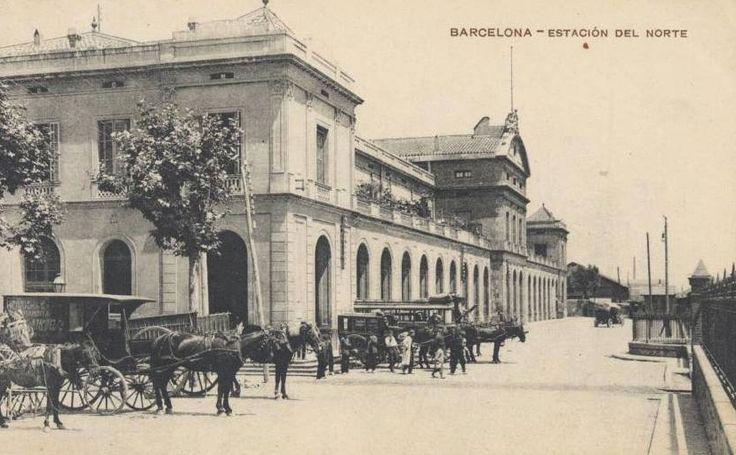 Estacion del Norte en Barcelona , Postal comercial cedida por Juan Manero