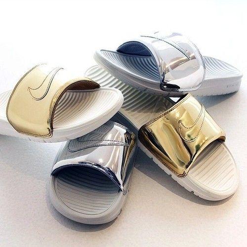 Nike Benassi Slides Metal pack // now on blogandthecity.net
