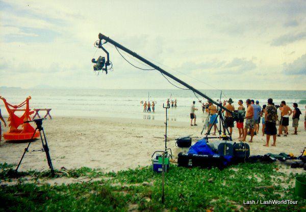 filming the 'challenges' for Survivor Thailand