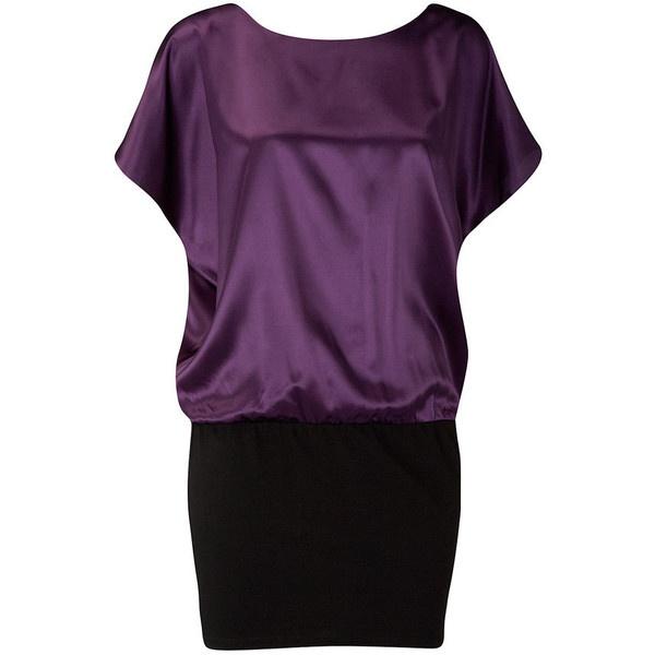 Purple satin tunic found on Polyvore
