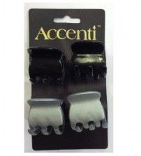 Black and White Accenti Hair Clips