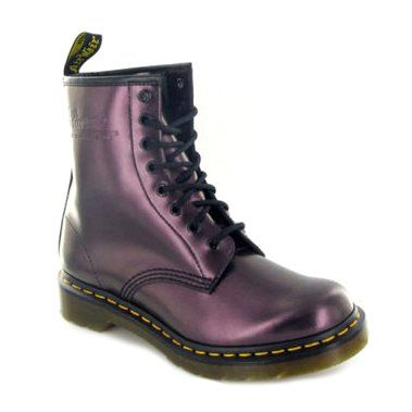 Amazon.com: Dr.Martens 1460 Shimmer Purple Womens Boots: GodDAMNIT those are hot!