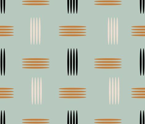 mid century modern wallpaper | Mid Century Modern Teal - chickoteria - Spoonflower