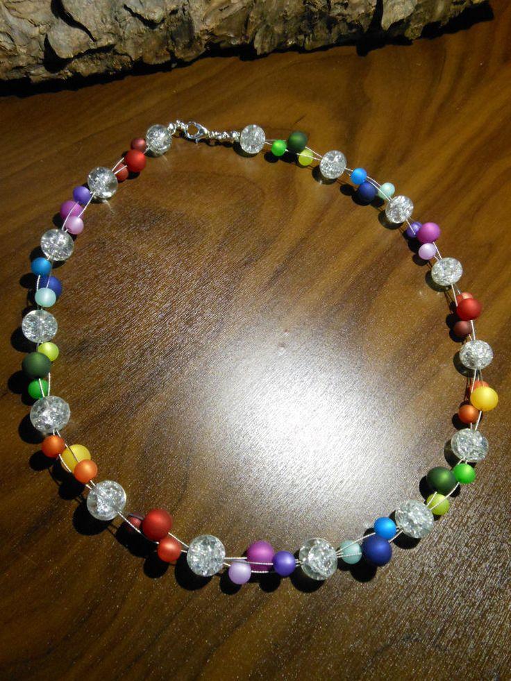 Neu unikat Regenbogen Polariskette bunt Halskette Collier Polaris perlen kette in Uhren & Schmuck, Modeschmuck, Halsketten & Anhänger | eBay