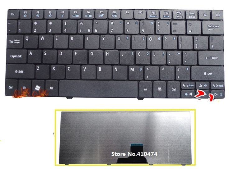New Keyboard English for Acer aspire one 721 722 751 751H ZA3 ZA5 752 753 753H 1410 1810T AO751 AO751H 752H laptop US Keyboard