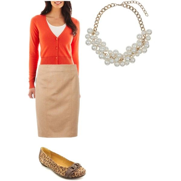 Simple fall 2014 outfit with pop of orange
