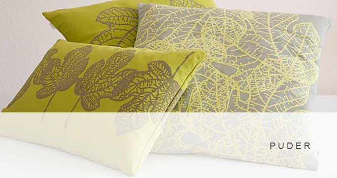 Puder. 18 designs i mange farver. Forskellige størrelser. http://shop.kurage.dk/accessories/puder.html