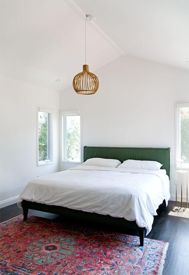 Re upholstering a bed bedroom update smitten studio for Simple minimalist bedroom
