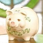 Belleek China Piggy Bank