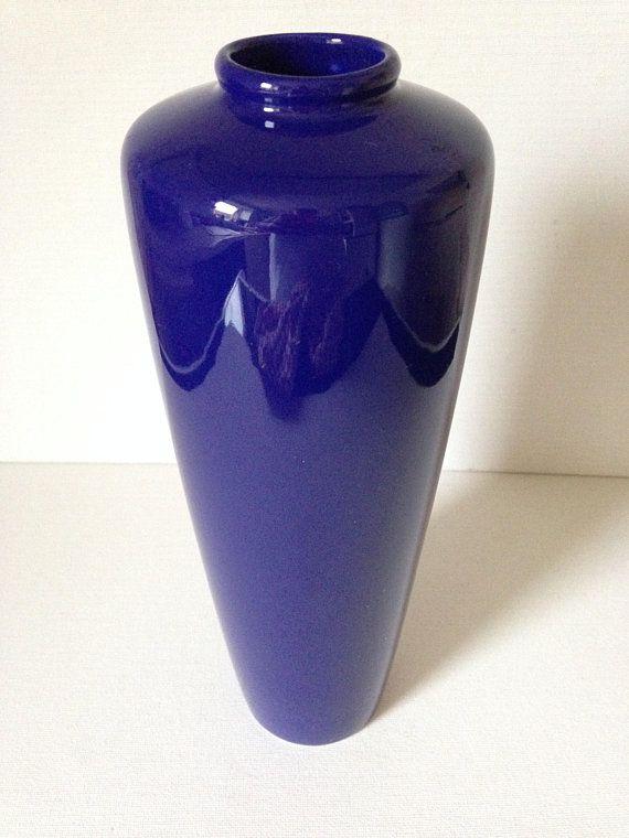 Vintage Tall Cobalt Blue Vase Cobalt Blue Vase Blue Vase