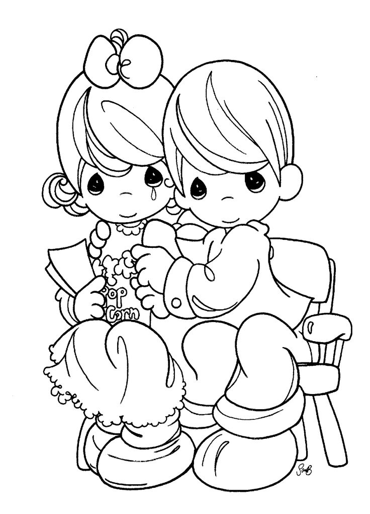 Colouring In Pages Wedding : 609 best coloring pages: precious moments images on pinterest