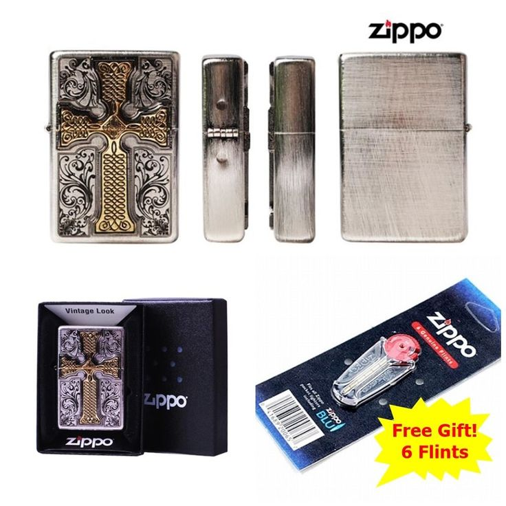 [Zippo] CREADOS EMBLEM IS/ Windproof Lighter Made in USA + 6 Flints for free