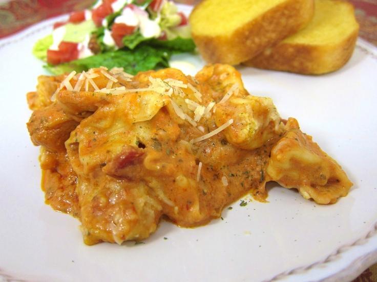 Baked Cheese Tortellini (Johnny Carinos Copycat recipe)