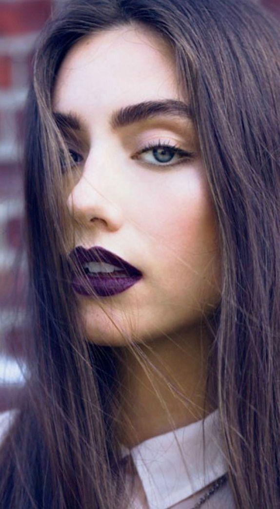 Plum lips: