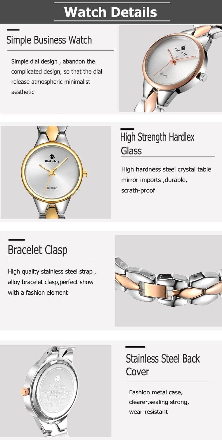 WAL-JOY WJ-9001 Luxury Women Quartz Watch Fashion Alloy Strap Ladies Dress Watch