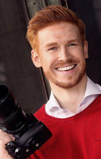 Vincent - rot e Haare - braune Augen - Greens Modelagentur