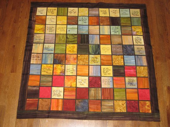 Wedding guest book quilt by AandMQuilts on Etsy, $400.00... love this idea but not a fan of the price