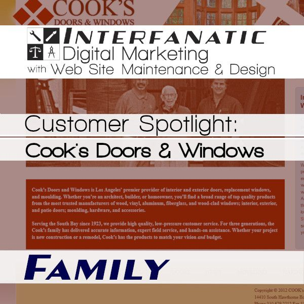 Interfanatic Customer Spotlight Cook S Doors Windows Customer Stories Quality Windows Digital Marketing