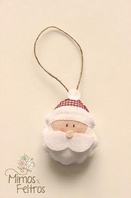 Enfeites de Natal em Feltro da Andrea