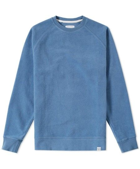 Norse Projects Ketel Brushed Sweatshirt in Marginal Blue