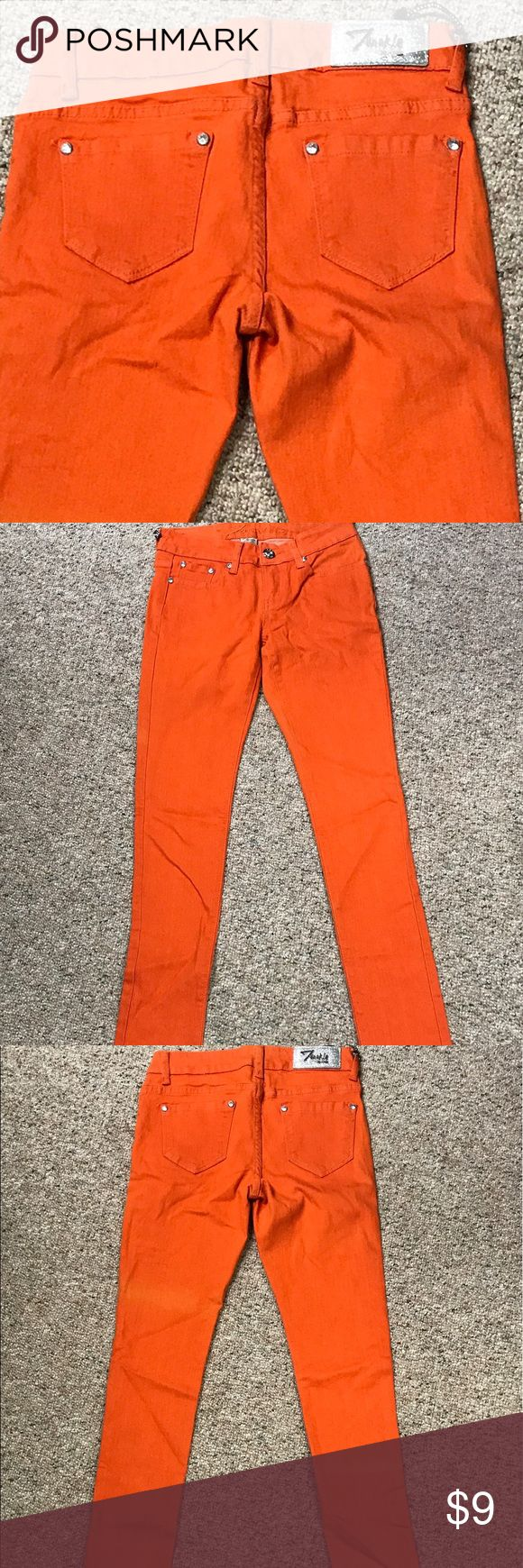 Bright Orange Skinny Jeans If your team color is Orange 🍊 or if you just want to add a squeeze of color to your wardrobe, here is a bargain for you!!  Stretch Denim. Twinkle Jeans Jeans Skinny