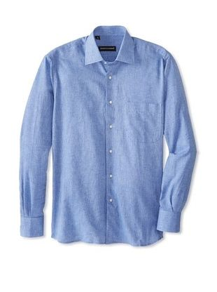 61% OFF Kenneth Gordon Men's Spread Collar Sportshirt (Navy)