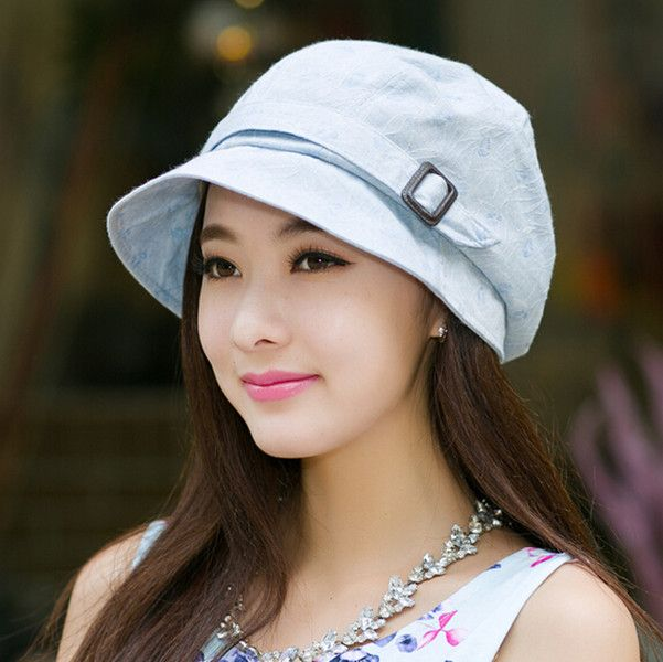 Casual flower bucket hat for women summer sun hats travel wear
