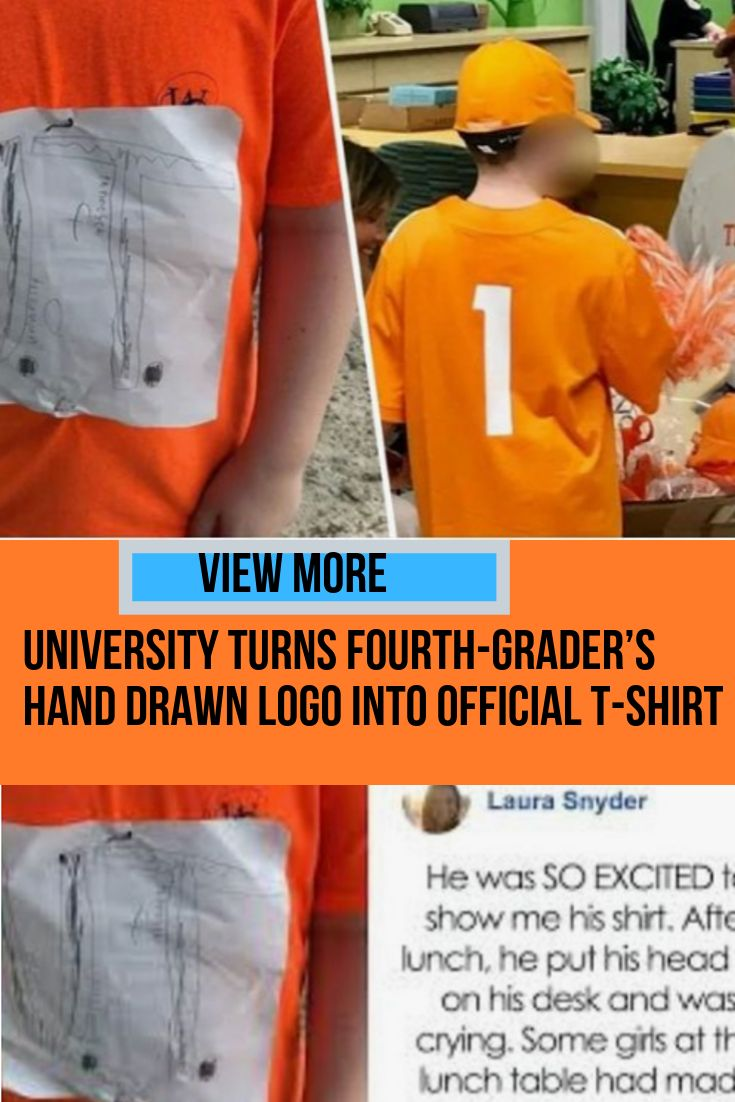 College Turns Fourth-Grader's Hand Drawn Emblem Into Official T-Shirt