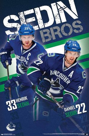 Sedin Brothers Vancouver Canucks Poster at AllPosters.com