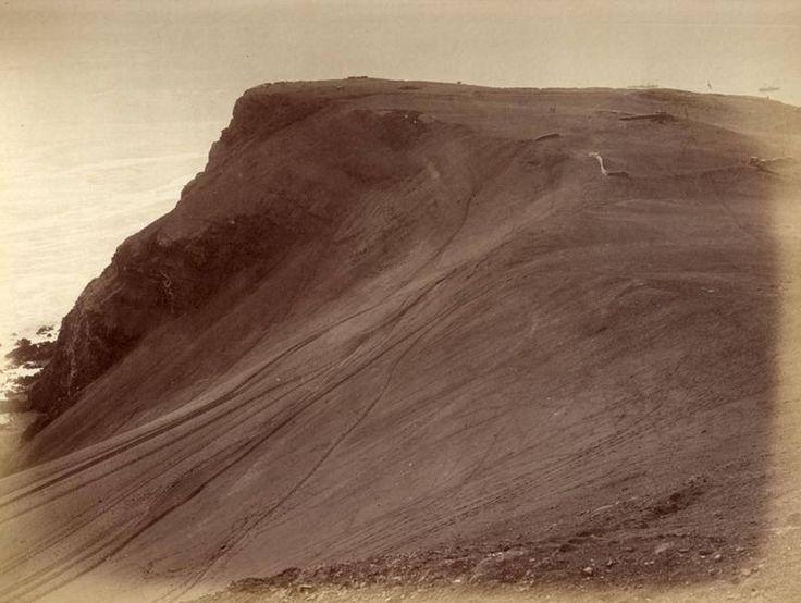 Arica el Morro desde el camino de acceso. Lado este del Morro de Arica. Fotografía Díaz & Spencer, 1881