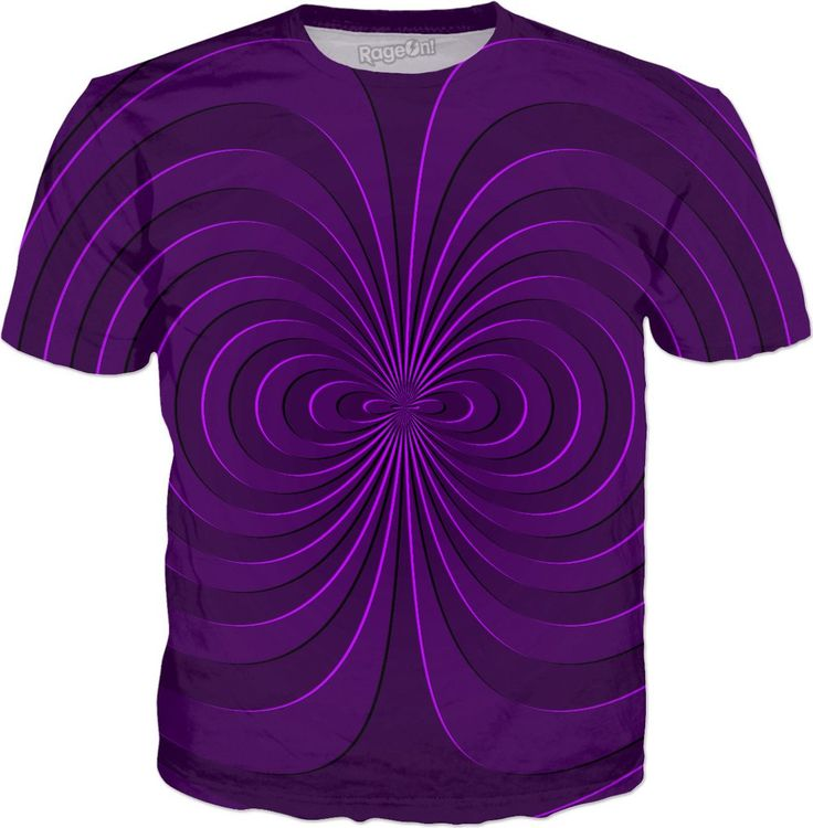 Trippy curves, spirals pattern, purple, violet colors, geometric themed all-over-print tee shirt design  - Item printed by RageOn.com, also available at casemiroarts.com #style #design #cool #sexy #swag #fashion #accessories #clothing