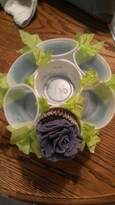 Cupcake bouquet - Here is a deconstructed one for an idea of how to build one.