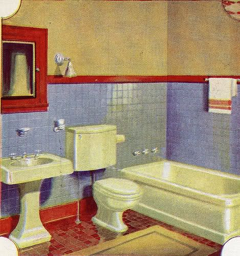 33 best images about vintage bathroom 1930 39 s on for Bathroom ideas 1930s semi