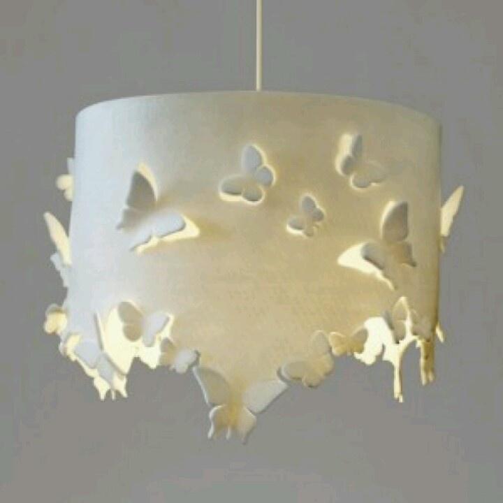 Vilt vlinder lamp